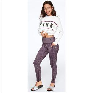 VS PINK High Waist Fleece Lined Pocket Leggings